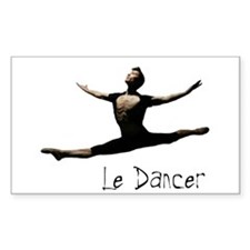 Male Dancer Rectangle Decal