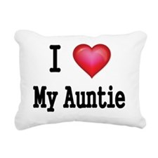 I LOVE MY AUNTIE Rectangular Canvas Pillow