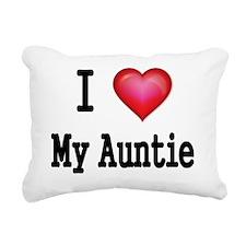 I LOVE MY AUNTIE Rectangular Canvas Pillow