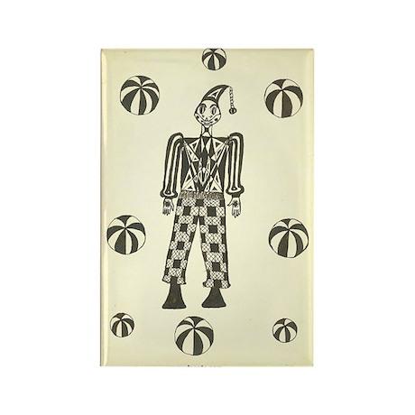 Black & White Clown Rectangle Magnet