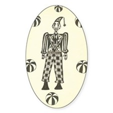 Black & White Clown Oval Decal