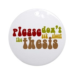 Thesis Ornament (Round)