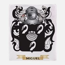 Miguel Coat of Arms - Family Crest Throw Blanket