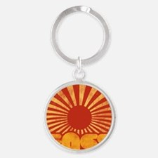 The sun rises in the east Round Keychain