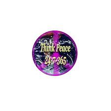 Think Peace Mini Button