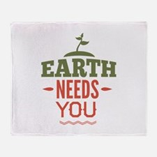 Earth Needs You Stadium Blanket
