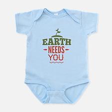 Earth Needs You Infant Bodysuit