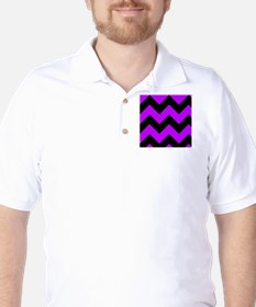 Purple and Black Chevron Pattern Golf Shirt