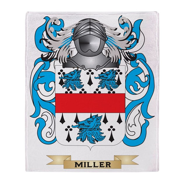 Miller Coat Of Arms Family Crest Throw Blanket By Admin