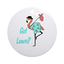 Got Lawn Flamingo Ornament (Round)