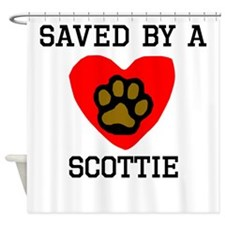 Saved By A Scottie Shower Curtain