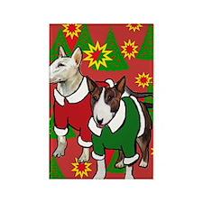 Bull Terrier Christmas Rectangle Magnet