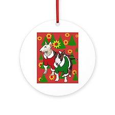 Bull Terrier Christmas Round Ornament