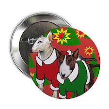 "Bull Terrier Christmas 2.25"" Button"