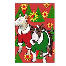 Bull Terrier Christmas Postcards (Package of 8)