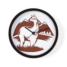 LamaPanoramaBR Wall Clock
