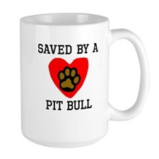 Saved By A Pit Bull Mugs