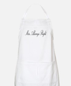 Mrs. ALWAYS right BBQ Apron