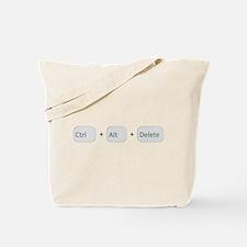 Ctrl + Alt + Delete Tote Bag