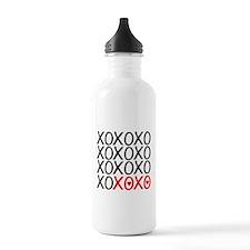 xoxo, kiss hug kiss hug, i love you Water Bottle
