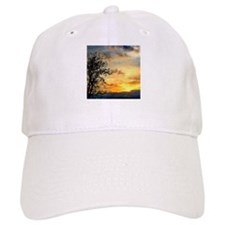 Tree Silhouettes at Sunset Baseball Cap