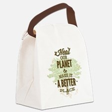 Heal Our Planet Canvas Lunch Bag
