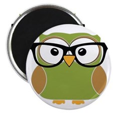 Funky Hipster Owl Magnet