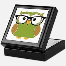 Funky Hipster Owl Keepsake Box