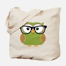 Funky Hipster Owl Tote Bag