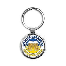 Ukrainian Drinking Team Round Keychain