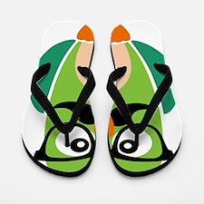 Hipster Owl Flip Flops