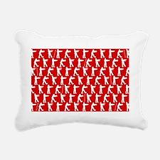 shower zombies red text  Rectangular Canvas Pillow