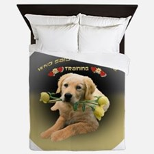 Lab Who Said I Need Training ornament Queen Duvet