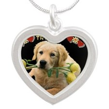 Lab Training Silver Heart Necklace