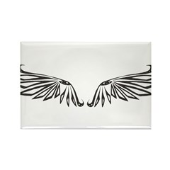 Blunt Wings Rectangle Magnet