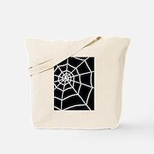 shower spider web black rug Tote Bag