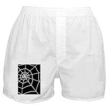 shower spider web black rug Boxer Shorts