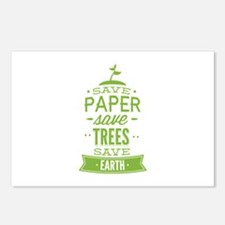 Save Paper Save Trees Save Earth Postcards (Packag