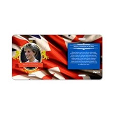Princess Diana Historical Aluminum License Plate
