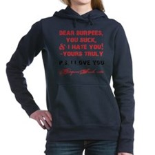 DEAR BURPEES II - WHITE Hooded Sweatshirt