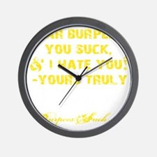 DEAR BURPEES II - YELLOW Wall Clock