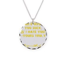 DEAR BURPEES II - YELLOW Necklace