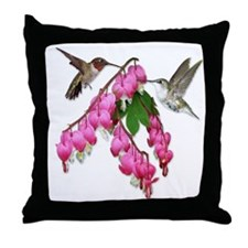 Flying Jewels Throw Pillow
