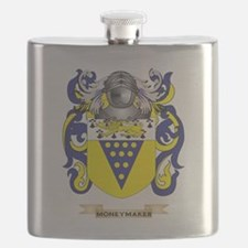 Moneymaker Coat of Arms - Family Crest Flask
