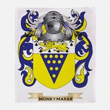 Moneymaker Coat of Arms - Family Cre Throw Blanket