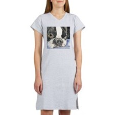 boston terrier Women's Nightshirt