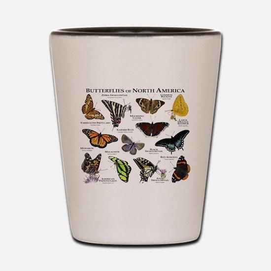 Butterflies of North America Shot Glass