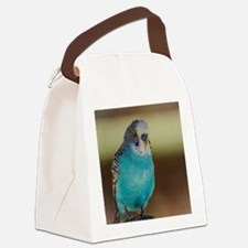 Blue Budgie Canvas Lunch Bag