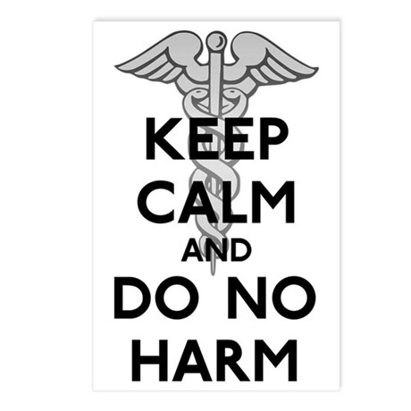 Keep Calm Do No Harm Postcards (Package of 8)