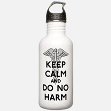 Keep  Calm Do No Harm Water Bottle